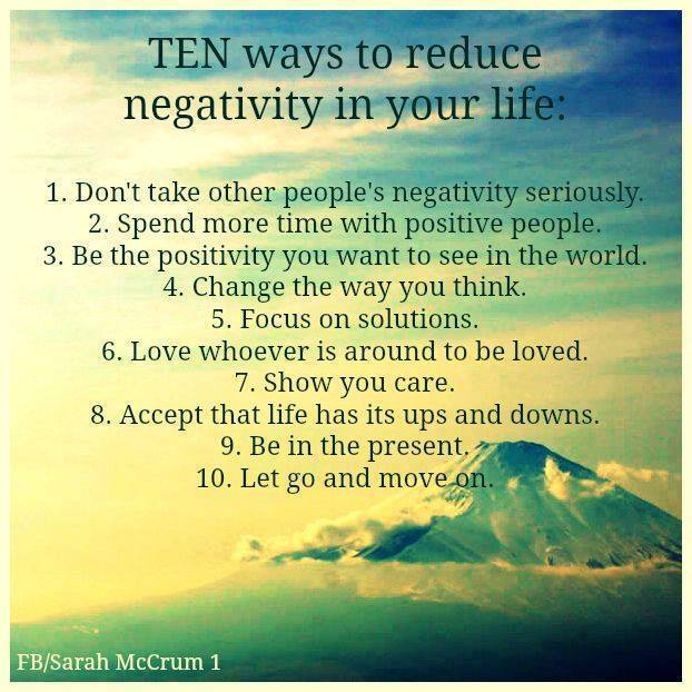 How to remove negativity from life