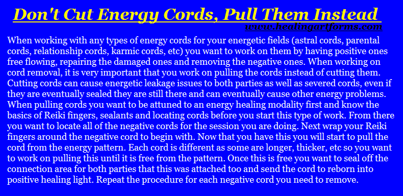how to energetically cut cords