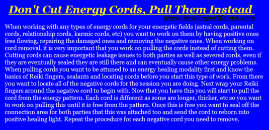 pull energy cords